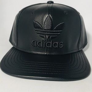 Adidas Black Leather SnapBack